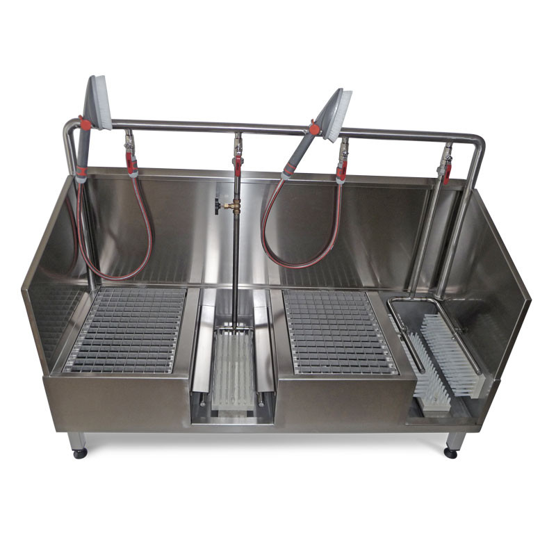 Boot washer stainless-steel pro with side and rear splash guards