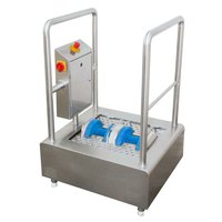 Pass through shoe-sole cleaning machine