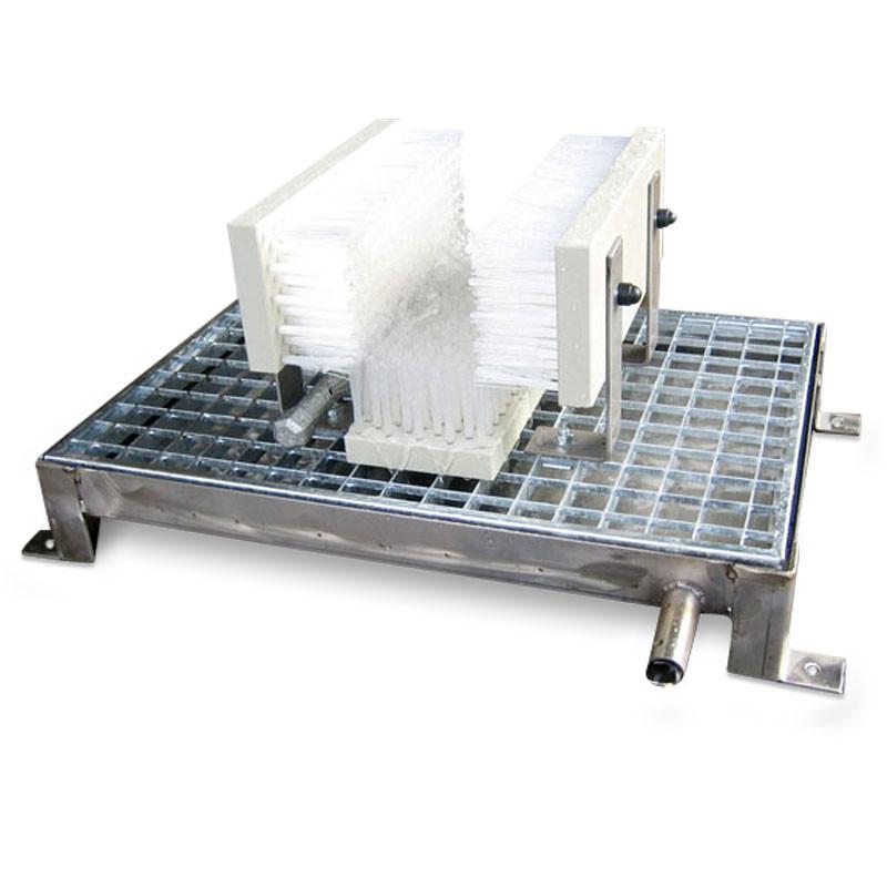 Stiefelwaschplatz Arbeitsschuhe geeignet für Sport- und Arbeitsschuhe und gut transportierbar