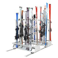 Freestanding stand for skis 18 - 32 pairs